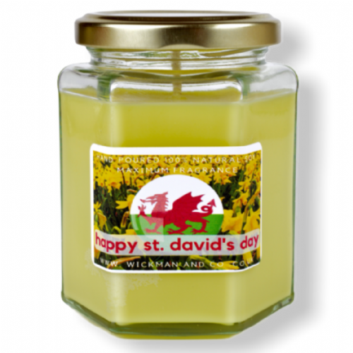 St David's Day Candle - Spring Daffodils Soy Wax Candle